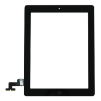 iPad 2 Touch Digitizer with Home Button – Black