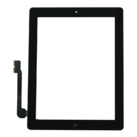iPad 4 Touch Digitizer with Home Button – Black
