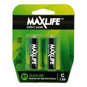 MAXLIFE C Alkaline Battery 2 Pack