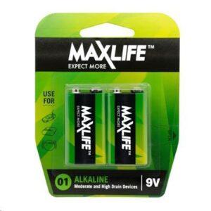 MAXLIFE 9V Alkaline 2 Pack