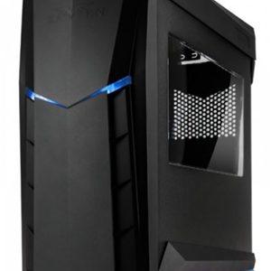 SilverStone RVX01BA-W Raven X ATX Blue/Black Case with Window
