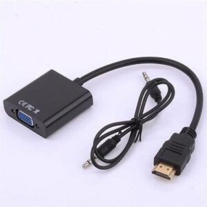 HDMI to VGA Male To Female Converter Adapter Digital to Analog Video Audio