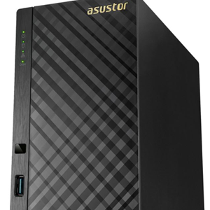 Asustor AS1002T 2 Bay NAS with 4TB (2 x 2TB Seagate Ironwolf HDD)