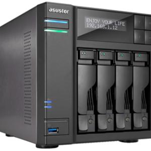 Asustor AS-6404T 4 Bay Celeron 2.09GHz Quad Core 8G RAM NAS 3Yr Wty