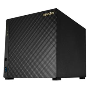 Asustor AS3204T v2 4 Bay Celeron 1.6GHz QC 2GB RAM NAS 3Yr Wty