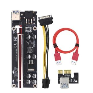 New Mining PCI-E Riser Card VER009S Plus Extender Adapter With USB 3.0 Cable